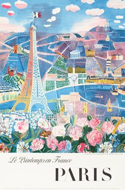 Le Printemps en France - Paris, 1966 by Raoul Dufy. Vintage travel poster