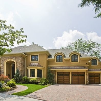 Exterior House Colors With Brown Roof Design Pictures