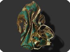 scultura gioiello in bronzo anticato