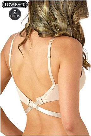 d1cc383344 Women s Backless Low Back Bra Converter 2 Hook Nude Strap Extender Perfect  for a Backless Dress or Top at Amazon Women s Clothing store