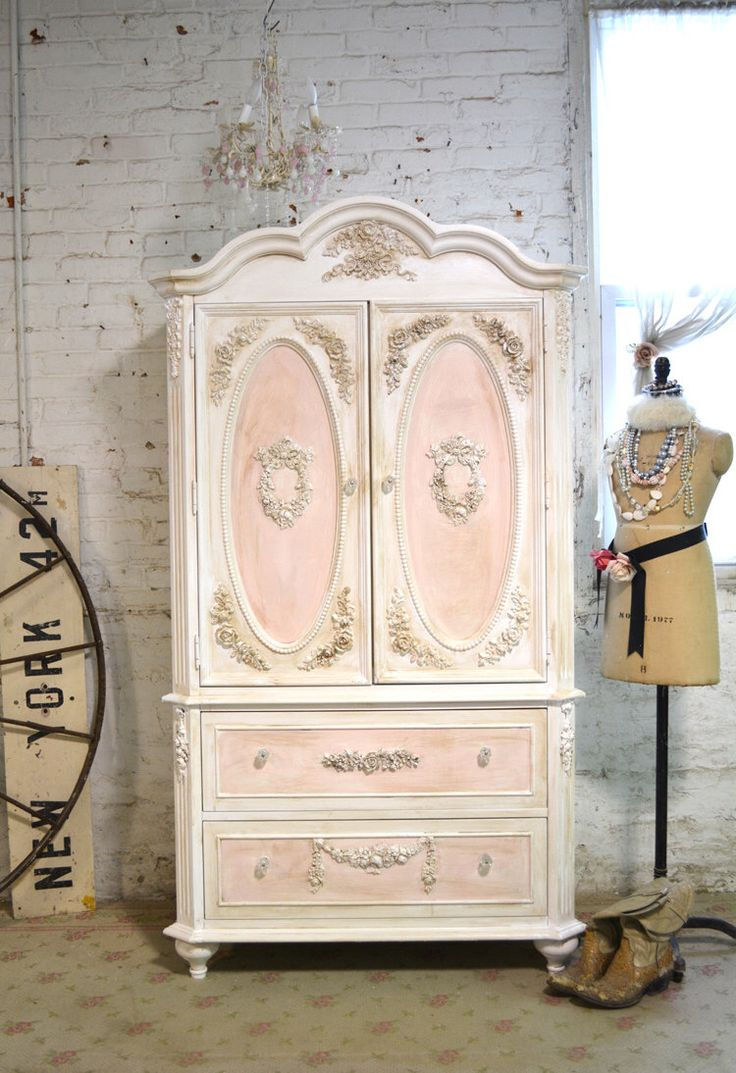 Painted Cottage Chic Shabby Romantic French Armoire AM165 by paintedcottages on Etsy https://www.etsy.com/listing/225409105/painted-cottage-chic-shabby-romantic