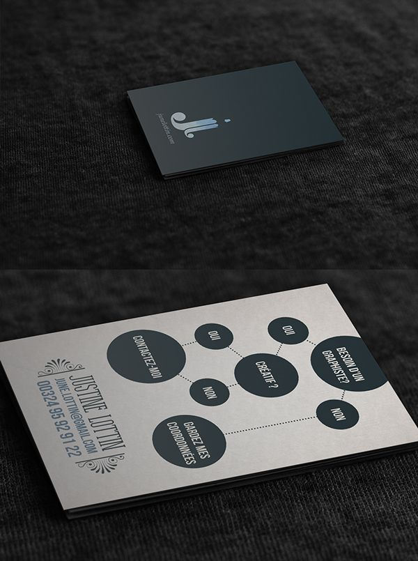 Buisiness Card on Behance by Justine Lottin