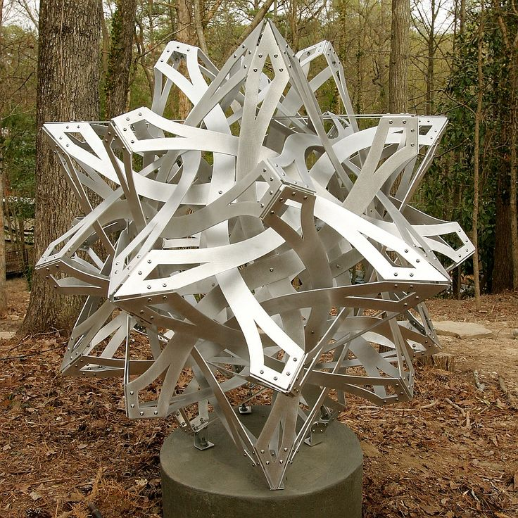 Compass Points -- sculpture by George W. Hart