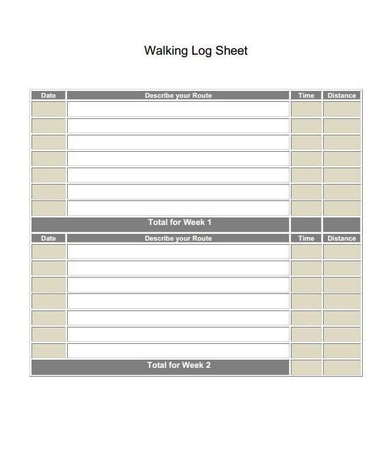 Printable walking log sheet and journal. | Girl Scouts | Pinterest