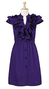 dress: Ruffle Dress, Purple Dresses, Plus Size, Colors, Ruffles Dresses, Closet, Royal Blue, Teacher Dresses, Super Cute Dresses