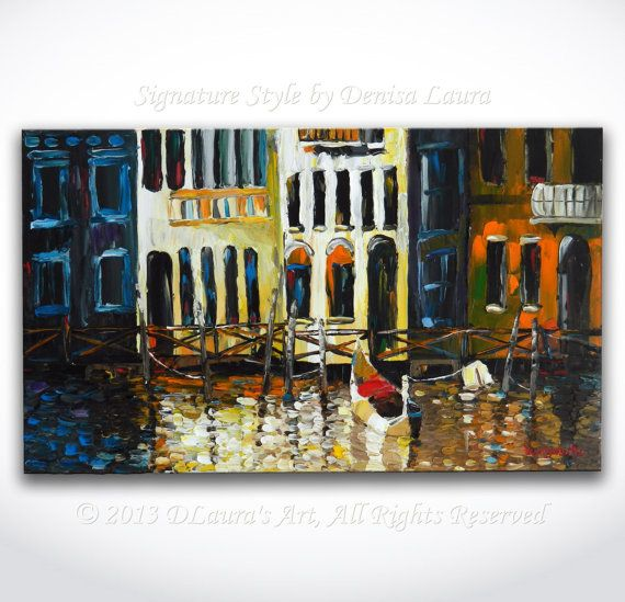 Hey, I found this really awesome Etsy listing at https://www.etsy.com/listing/173870469/venice-canal-gondola-painting