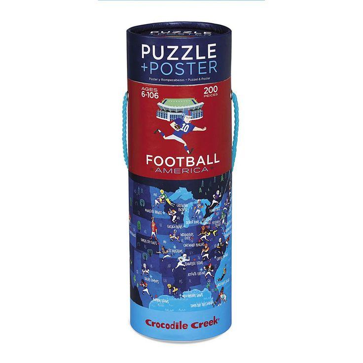 Crocodile Creek Football America 200-pc. Jigsaw Puzzle & Matching Poster, Multicolor