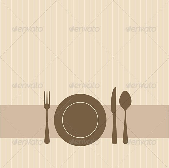 Invitation in brown — Vector EPS #cooking #restaurant • Available here → https://graphicriver.net/item/invitation-in-brown/611596?ref=pxcr