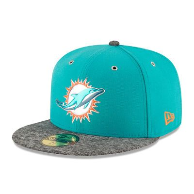 Miami Dolphins New Era 2016 NFL Draft On Stage 59FIFTY Fitted Hat - Aqua/Heathered Gray