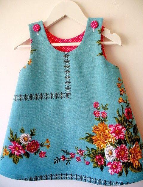 lottielulu: little tablecloth dress Darling idea