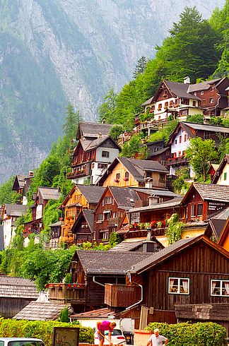 Hallstatt, Austria. Considered to be the oldest still-inhabited village in Europe, it has evidence of inhabitants since prehistoric times.