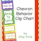 """Chevron Behavior Clip Chart. This behavior clip chart is 8.5 """" X 38.5"""". Each of the colored sections are 8.5"""" X 5.5"""" except the green which is 8.5 X 11. TpT"""