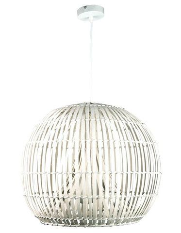 The Sartori is a stunning slatted cane dome pendant with a triangular cavity that the single light globe resides in.