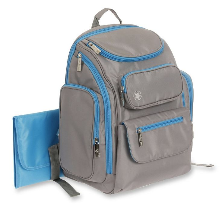 Jeep Backpack Diaper Bag, Gray/Teal