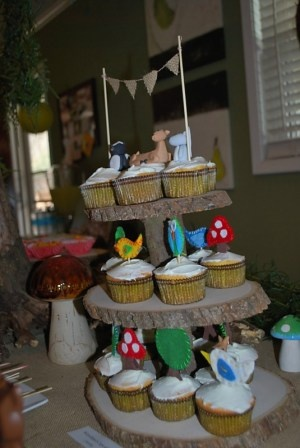 Cupcake stand....I think you can by the planks at Michaels.