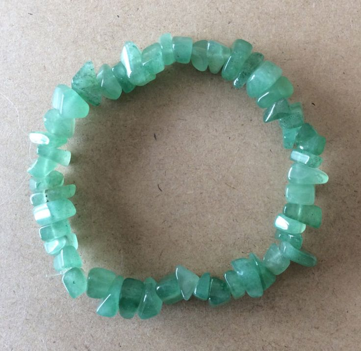 A personal favorite from my Etsy shop https://www.etsy.com/au/listing/281149070/adventurine-chip-bead-bracelet-includes