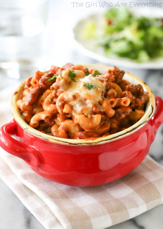 Chili Mac from The Girl Who Ate Everything on chef-in-training.com …This is an was dinner that the whole family will love!