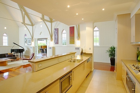 Australian Home Design: From pew to wow. Australian church renovation kitchen