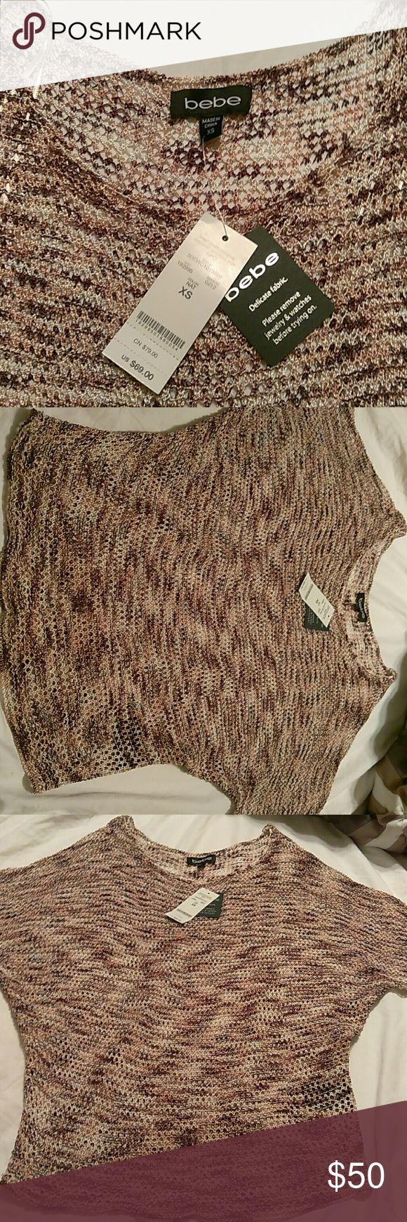 bebe Crochet Batwing Top NWT bebe Tops Blouses