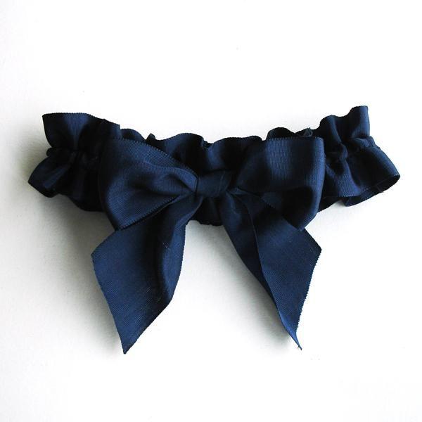 Navy garter #bride #lingerie