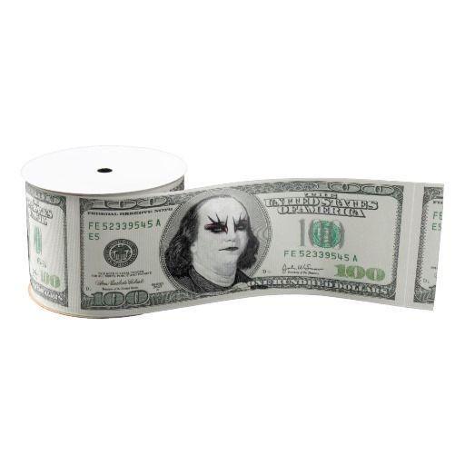 Banknote Gothic Parody Ribbon by KittyBitty