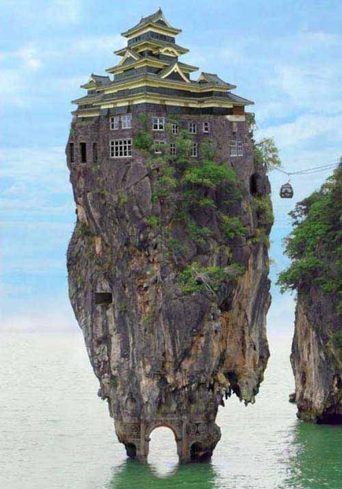 now that is a neat place to build a home...not the safest i'd imagine but would be amazed to go there!