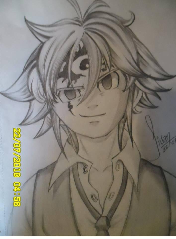 Dibujo A Lapiz De Meliodas Nanatsu No Taizai Dibujo A Lapiz Anime Animes A Lapiz Dibujos Manga A Lapiz