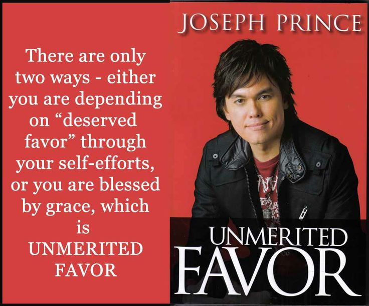 joseph prince quotes | Unmerited Favor: Depending totally on Jesus for every good thing in ...