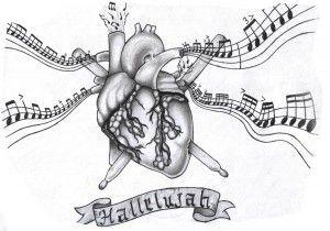 Эскизы тату сердце | ТриТатушки