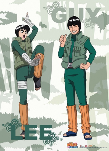 Naruto Shippuden Rock Lee & Guy Cloth Wall Scroll Poster GE-5256