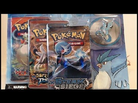 Opening A Pokemon Legendary Birds 3 Boosters with Articuno Collector's Pin!