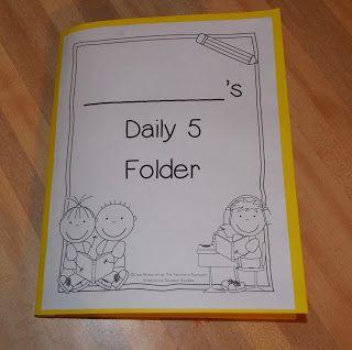 The Teacher's Backpack: Daily 5 Folders