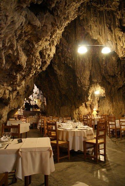 Restaurant La Grotte, trans en Provence FRANCE. Restaurant in a cave....wow!