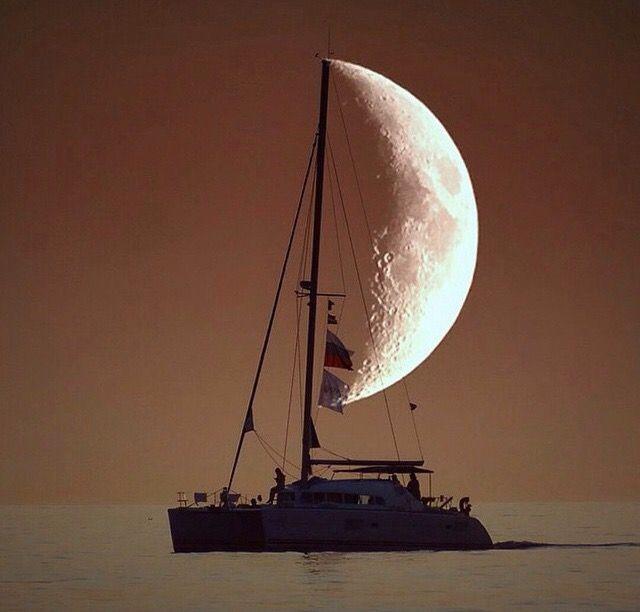 A half-moon pirate ship