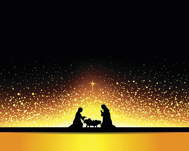Nativity - ilustración de arte vectorial