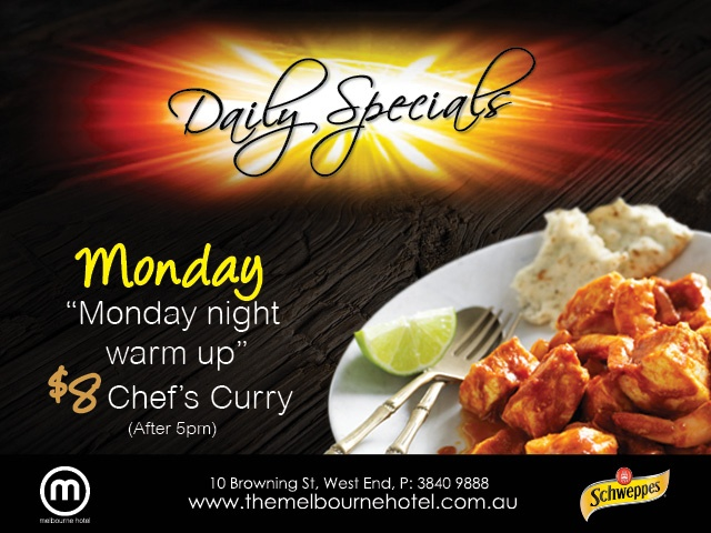 Melbourne Hotel, Brisbane - Monday night Curry only $8