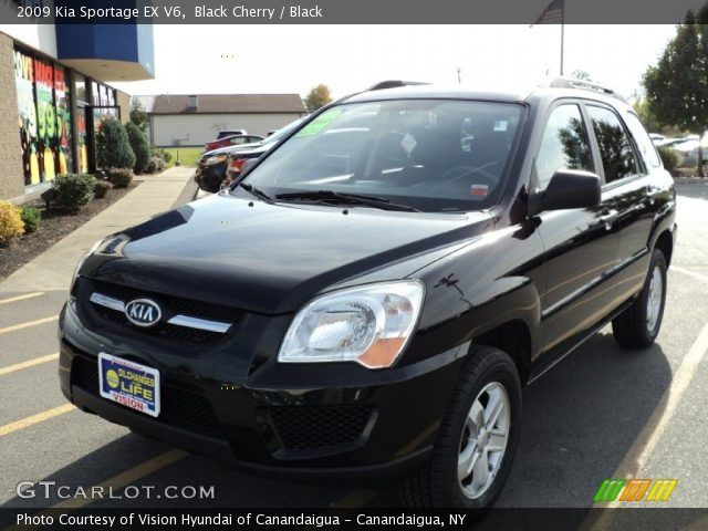 | Black Cherry - 2009 Kia Sportage EX V6 - Black Interior |