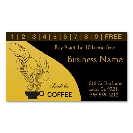 buy 10 get 1 free punch card templates