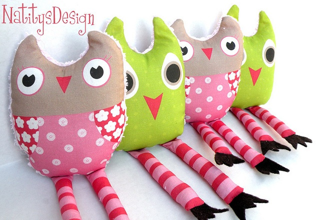Baby Owls Plush by EloisaD, via Flickr