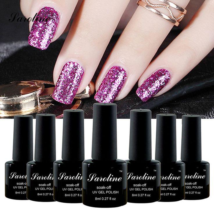 Saroline 3D lucky colcr  Platinum UV Gel Shining Gel Polish Fingernail Gel Soak-off LED nail art vernis semi permanent