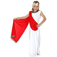 New Roman Greek Goddess. Children's fancy dress costume. Age 7-9 years. 130cm. Red/white dressing up outfit