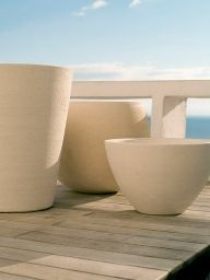 Ravel Vase Cosmos, Cycas et Arum Terre blanche
