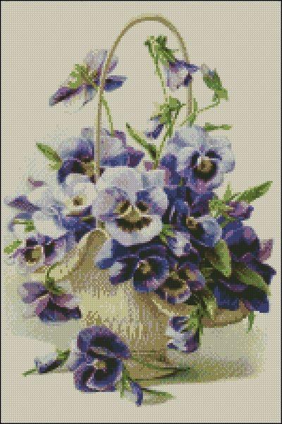 Gobelíny Kvety - Vyšívané obrazy a predlohy