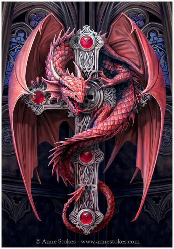 the crucifix, symbol of suffering and surrender, guarded by the dragon symbol of our fear of having to...
