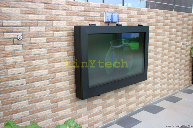 Vintage weatherproof TV enclosure From Kinytech China outdoor TV cabinet outdoor TV enclosure outdoor