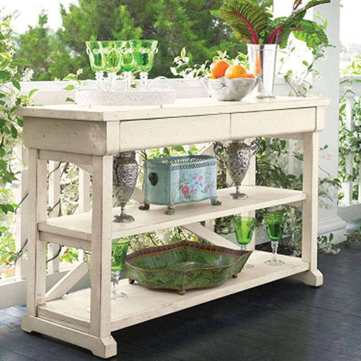 shabby chic hall table this would make a great potting bench but