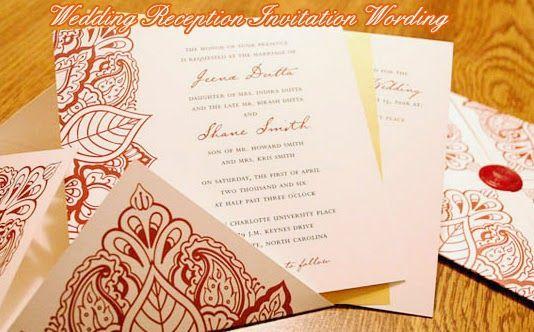 Wedding Reception Invitation Wording Ideas: 1000+ Ideas About Wedding Reception Invitation Wording On
