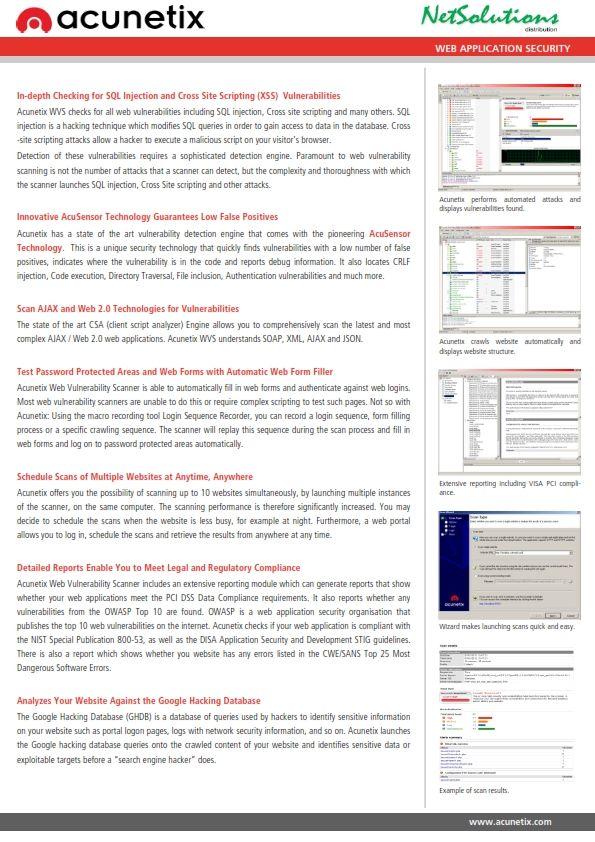 PT. #Netsolutions Infonet #acunetix Web Application Security