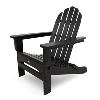 Trex Outdoor Furniture TXA53CB Cape Cod Folding Adirondack Chair #home decor sale & deals Finish Color:Charcoal Black Cape Cod Folding Adirondack Chair Comfortably contoured seating Folds for easy transportation and storage UV-inhibited col...