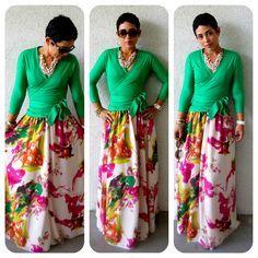 #TBT DIY Chiffon Print Maxi Skirt |Fashion, Lifestyle, and DIY